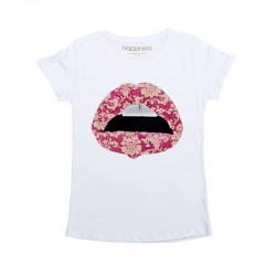 T-SHIRT DONNA HAAPPINESS 2313FK NUOVA COLLEZIONE