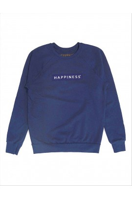 FELPA DA UOMO HAPPINESS CREWPATCH