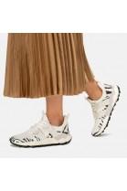 CORAX WOMAN - Sneaker con dettagli animalier - WHITE-BLACK