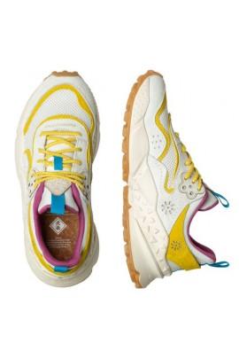 KOTETSU WOMAN - Sneaker con dettagli multicolor - WHITE-YELLOW